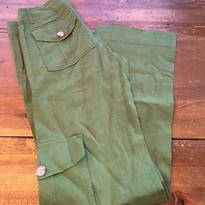 Theory green cargo pants